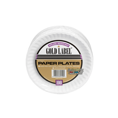 AJMCP6OAWH - Gold Label Coated Paper Plates
