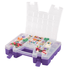 AKR06215CP4PK - Akro-MilsPlastic Portable Hardware and Craft Parts Organizers