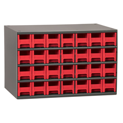 AKR19228RED - Akro-Mils28-Drawer Storage Hardware and Craft Organizer