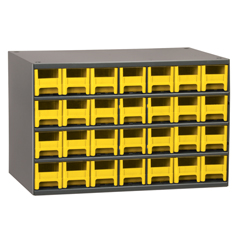AKR19228YEL - Akro-Mils28-Drawer Storage Hardware and Craft Organizer