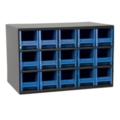 AKR19715BLU - Akro-Mils15-Drawer Storage Hardware and Craft Organizer
