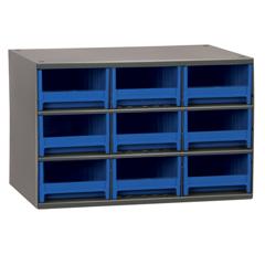 AKR19909BLU - Akro-Mils9-Drawer Storage Hardware and Craft Organizer