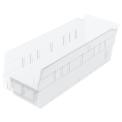 AKR30120SCLARCS - Akro-Mils12 inch Clear Nesting Shelf Bin Box