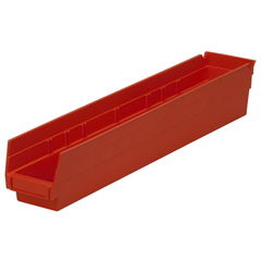 AKR30124REDCS - Akro-Mils24 inch Nesting Shelf Bin Box