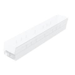 AKR30124SCLARCS - Akro-Mils24 inch Clear Nesting Shelf Bin Box