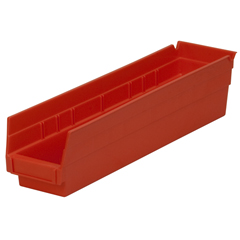 AKR30128REDCS - Akro-Mils18 inch Nesting Shelf Bin Box