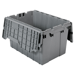 AKR39120GREYCS - Akro-MilsAttached Lid Containers