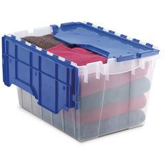 AKR66486CLDBLCS - Akro-MilsGallon Plastic Storage Keep Boxes with Attached Lids
