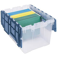 AKR66486FILEBCS - Akro-MilsPlastic Storage Hanging File Boxes with Attached Lids