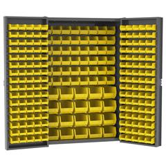 AKRHD4824F - Akro-MilsHeavy-Duty Bin Cabinets - Louvered Back Wall, Louvered Doors, with Bins