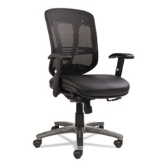 ALEEN4215 - Alera® Eon Series Multifunction Mid-Back Leather/Mesh Chair