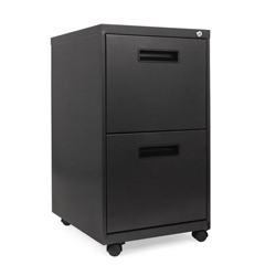 ALEPAFFCH - Two-Drawer Metal Pedestal File, 14 7/8w x 19-1/8d x 27-3/4h, Charcoal