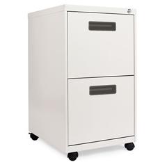 ALEPAFFLG - Two-Drawer Metal Pedestal File, 14 7/8w x 19-1/8d x 27-3/4h, Light Gray