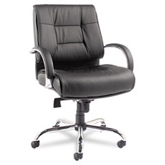 ALERV45LS10C - Alera® Ravino Series Mid-Back Swivel/Tilt Leather Chair