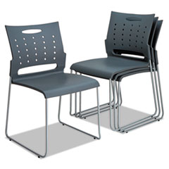 ALESC6546 - Alera® Continental Series Plastic Perforated Back Stack Chair