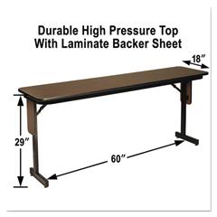 ALESP1860PX01 - Alera® High Pressure Laminate Top Seminar Table