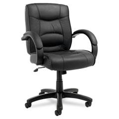 ALESR42LS10B - Alera® Strada Leather Mid-Back Swivel/Tilt Chair