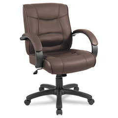 ALESR42LS50B - Alera® Strada Leather Mid-Back Swivel/Tilt Chair