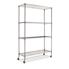 ALESW604818BA - Alera® Complete Wire Shelving Unit with Casters