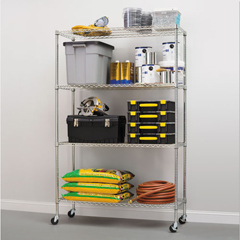 ALESW604818SR - Alera® Commercial Wire Shelving Kit with Casters