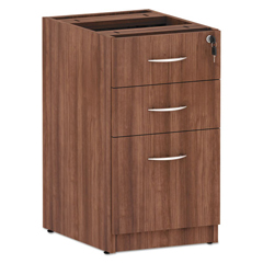 ALEVA532822WA - Valencia Series Box/Box/File Full Pedestal, 15.63x20.5x28.5, Mod Walnut