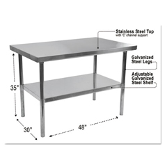 ALEXS4830 - Alera® Stainless Steel Table