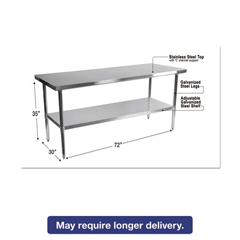 ALEXS7230 - Alera® Stainless Steel Table