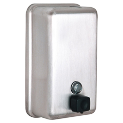 ALP423-SSB - AlpineManual Surface-Mounted Stainless Steel Liquid Soap Dispenser