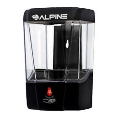 ALP432-1-BLK - Alpine - Automatic Hands-Free Transparent Gel Hand Sanitizer/ Liquid Soap Dispenser