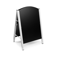 ALP491-01-WHI - Alpine - A-Frame Floor Standing Marker Board Sign