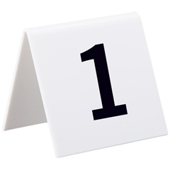 ALP493-1-25 - AlpineSelf Standing Number Cards