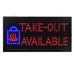 ALP497-15 - Alpine - Rectangular Take-Out Available Sign, Two Display Modes- 19W x 10H LED