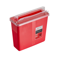ALP998-02-02 - Alpine - AdirMed Sharps Container 5 Quart with Mailbox Style Horizontal Lid - 2 Pack