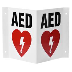 ALP999-02 - Alpine - AdirMed 3D AED sign 6 x 5.