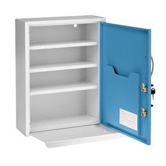 ALP999-06-BLU - Alpine - AdirMed Medicine Cabinet w/ Pull-Out Shelf & Document Pocket, Blue