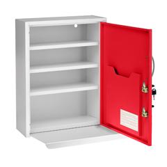 ALP999-06-RED - Alpine - AdirMed Medicine Cabinet w/ Pull-Out Shelf & Document Pocket, Red