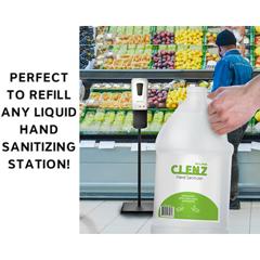 ALPALPC-1 - Alpine - CLENZ Instant Liquid Hand Sanitizer Refills, 1 Gallon, 4 Bottles/Case