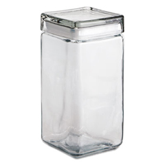 ANH85589R - Stackable Square Glass Jar