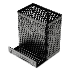 AOPART20014 - Artistic® Urban Collection Punched Metal Pencil Cup with Cell Phone Stand