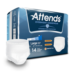 MON30333100 - Attends - Absorbent Underwear Attends Pull On Large Disposable Heavy Absorbency
