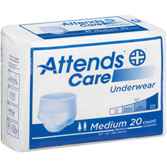 MON20733101 - AttendsCare® Moderate Absorbency Protective Underwear, Medium, 80/CS