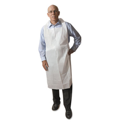 ATL2PE2V - Disposable Medium-Weight Soft Embossed Poly Aprons