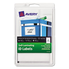 AVE00745 - Avery® Durable Self-Laminating ID Labels - 4 x 6 Sheets