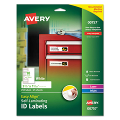 AVE00757 - Avery® Easy Align™ Self-Laminating ID Labels