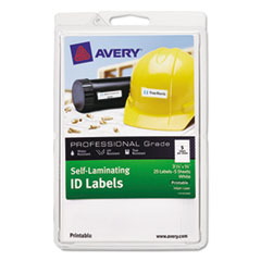 AVE00760 - Avery® Durable Self-Laminating ID Labels - 4 x 6 Sheets