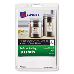 AVE00761 - Avery® Durable Self-Laminating ID Labels - 4 x 6 Sheets