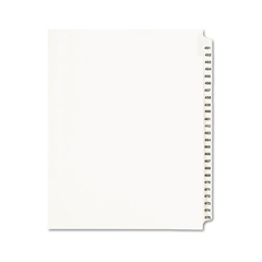 AVE01348 - Avery® Preprinted Legal Exhibit Index Tab Dividers with Black and White Tabs