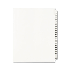 AVE01349 - Avery® Preprinted Legal Exhibit Index Tab Dividers with Black and White Tabs