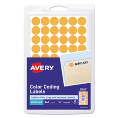 AVE05062 - Avery® Removable Self-Adhesive Round Color-Coding Labels