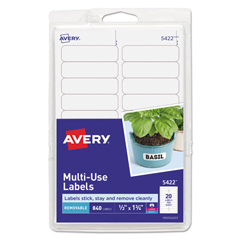 AVE05422 - Avery® Removable Self-Adhesive Multi-Use ID Labels
